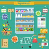 Supermarket flat set