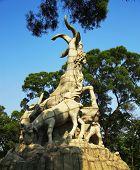 Five Goats Statue In Guangzhou City China