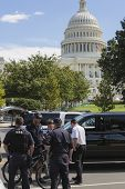 United States Capitol  September 19th 2012 during a threat at the capital- Washington DC police on s