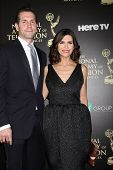 LOS ANGELES - JUN 22:  Frank Valenti, Finola Hughes at the 2014 Daytime Emmy Awards Arrivals at the