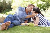 Couple on romantic picnic
