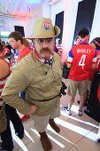 American World Cup Fan Dressed As Teddy Roosevelt.