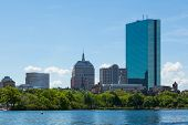 Boston Skyline From Waterfront , Massachusetts, Usa