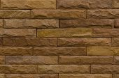 Background of modern brown brick wall.
