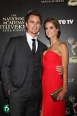 LOS ANGELES - JUN 22:  Darin Brooks, Kelly Kruger at the 2014 Daytime Emmy Awards Arrivals at the Be
