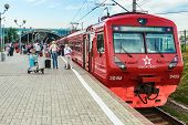 Aeroexpress Train In Moscow Domodedovo Airport