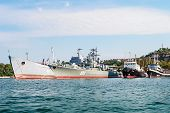 Warships In The Bay Of Sevastopol. Crimea