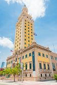 MIAMI,USA - MAY 27,2014 : The Freedom Tower in downtown Miami, a symbol of the cuban immigration to the city
