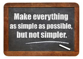 pic of einstein  - Make everything as simple as possible - JPG