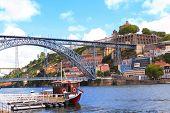 Bridge Maria Pia and Douro river, Porto, Portugal