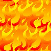 Hot Flames Seamless Pattern