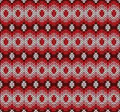 Vector Winter Red Knitted Pattern