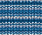 Vector Winter Blue Knitted Pattern