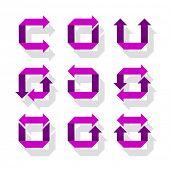 Arrow Icon Set, vector eps 10 illustration
