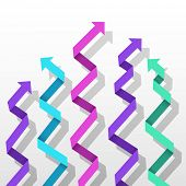 Colorful paper arrow background. Vector eps10 illustration.