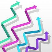 picture of spatial  - Colorful paper arrow background - JPG
