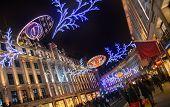 Regent street in Christmas lights, London