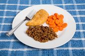 Chicken With Red Beans And Rice And Carrots