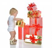 image of new years baby  - Christmas new year concept - JPG