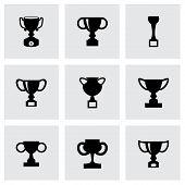 Vector trophy icon set