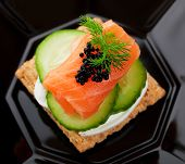 Caviar And Salmon Canape