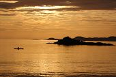 Canoe Sunset At Arisaig
