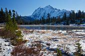 Mount Shuksan Winter Scene