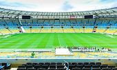 RIO DE JANEIRO, BRAZIL: CIRCA NOVEMBER 2014: The famous Maracana Stadium in Rio de Janeiro, Brazil.
