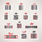 Present barcode vector image set Template for your design.