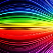 Abstract rainbow warped stripes colorful background