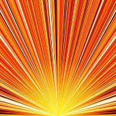 Abstract orange and yellow striped burst background