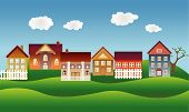 Village or town neighborhood