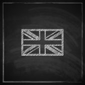 illustration of british union jack flag with chalkboard texture