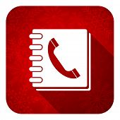 phonebook flat icon, christmas button