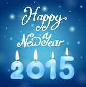 Candles 2015 Happy New Year