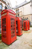 Public telephone boxes