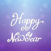 Happy New Year Blue-purple Background