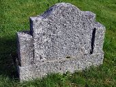 Old empty gravestone
