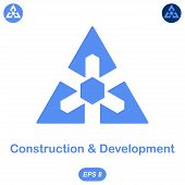 Logo Conception Of Development And Construction