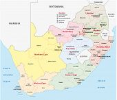 South Africa Administrative Map
