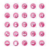 Shopping pink icons