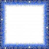 Winter Luxury Frame With Snowflakes