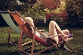 Young woman relax outdoors
