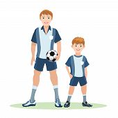 Father and son soccer team