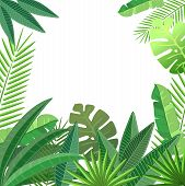 Tropical leaves floral design