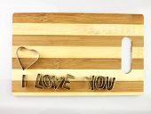 Love And Bread Cutting Board.