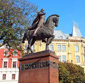 Danylo Halytsky Monument In Lviv