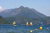 picture of annecy  - French Alps around Lake Annecy in France - JPG