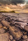 Rocks And Ledges Of Kimmeridge Bay At Sunset