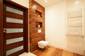 Modern House With Wooden Bathroom
